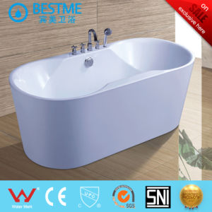 New Design High Quality Acrylic Freestanding Simple Bathtub (6508) pictures & photos