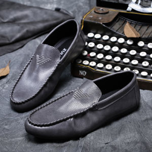 Factory Price Fashion PU Leather Men Male Breathable Driving Flat Casual Shoes pictures & photos