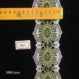7cm Light Green Geometry Circle Trimming Lace for Party Dress Hme851 pictures & photos