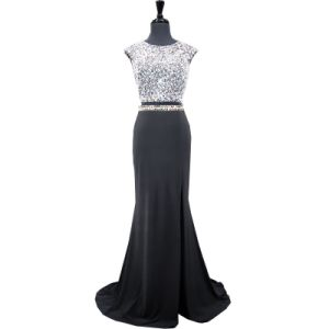 Crystal Black Party Prom Dress Real Stock Mermaid Evening Gown Dresses E81219 pictures & photos