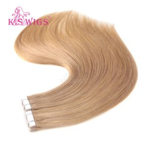 Factory Wholesale 9A Grade Virgin 100% Human Hair Straight Tape Hair Extensions pictures & photos