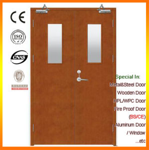 China Fire Proof Door, Fire Rated Wooded Door with Glass pictures & photos