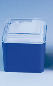 Cube Transparent Cover Variety of Colors Inside The Sponge Placed Watch Plastic Box pictures & photos