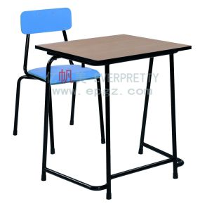 Wooden Single School Student Desk and Chair pictures & photos