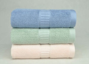 Bamboo Fiber Solid Color Satin Band Towel