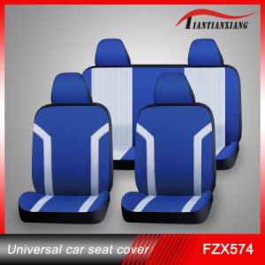 Waterproof Blue Fabric Embroidery Car Seat Cover (FZX574)