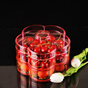 Professional Custom Creative Double Lattice Acrylic Fruit Tray pictures & photos