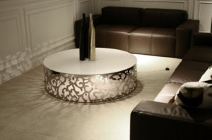 Divany Modern Style Home Living Room Furnitutr Special Design Villa Project Round Coffee Table pictures & photos