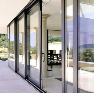 Topbright Powder Coated Slat Sliding Glass Door with Grills pictures & photos