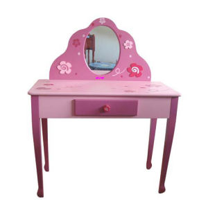 Newest Design Beauty Pink Toy Dresser with Mirror for Girl (WJ278081) pictures & photos