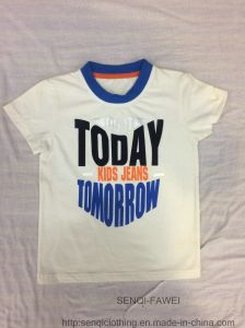 Toddler Lovely Boy Round Neck T-Shirt in Kids Clothes Sq-6338 pictures & photos