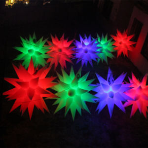 1.5m Diameter Inflatable Lighting Star for Party Decoration
