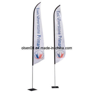 Silver Swooper Flag Pole with Ground Spike for Display Stand pictures & photos