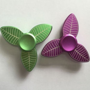 Tree Leaf Aluminum Alloy Hand Finger Fidget Tri-Spinners pictures & photos