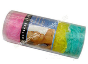 4PC Bath Sponge Packed in PVC Cylinder (YQ1014)