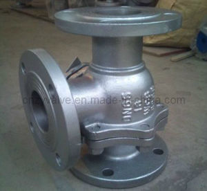 """L"" Three-Way Type Floating Stainless Steel Ball Valve Dn65 Pn16 pictures & photos"