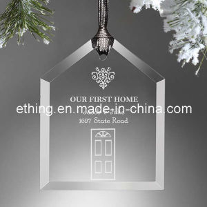 Personalized House Glass Christmas Tree Ornaments for Decoration pictures & photos