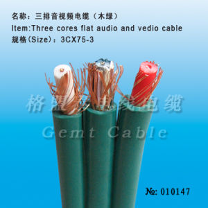 Security Factory Price Three Cores Flat Audio and video Cable pictures & photos
