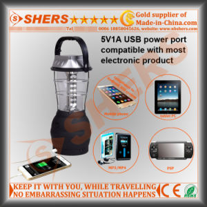 36 LED Solar Camping Lantern with Cranking Dynamo, USB (SH-1990) pictures & photos