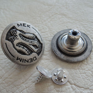 Customized Shank Metal Button for Jeans pictures & photos