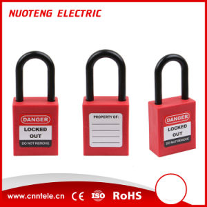 38mm Plastic Shackle Safety Padlock with Master Key pictures & photos