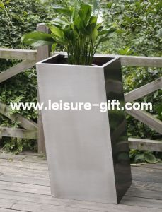 Fo-9023 Stainless Steel Flower Pot Inclined Garden Box pictures & photos