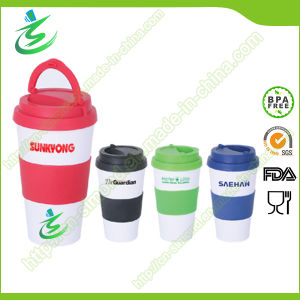 16 Oz Promotional BPA-Free Coffee Cups with Handle pictures & photos