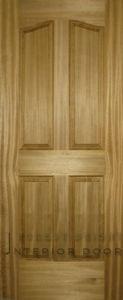 Nature Teak Veneer 4-Panel Curved Molded Door (MD-1121)