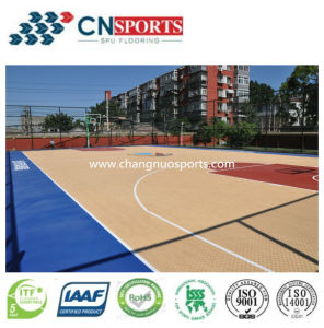 Shock Absorption Indoor/Outdoor Basketball Courts Flooring pictures & photos