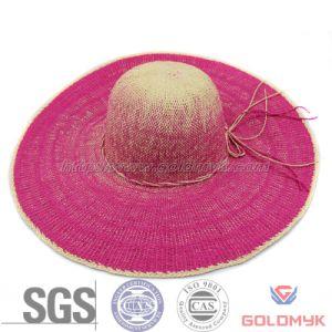 Women Wide Brim Straw Beach Hat pictures & photos
