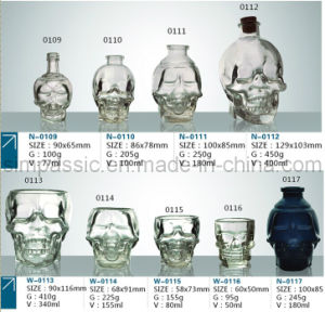 Skull Bottle / Glass Bottle / Wine Bottle (50ml~400ml) pictures & photos