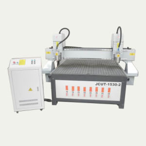 CNC Wood Processing Machine with Double Spindles 5*10 Feet (JCUT-1530-2)