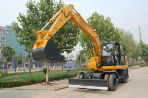 Hydraulic Wheeled Excavator (HTL120-9) pictures & photos