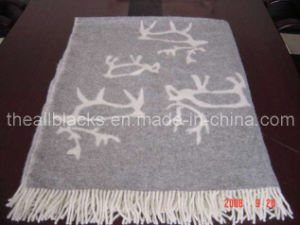 Jacquard Wool Blanket pictures & photos