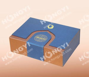 Blue/Brown Art Cardboard Gift Box for Perfume Packagiing (HYG014) pictures & photos