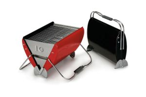 Portable BBQ Grill with Built-in Ash Tray and Foldable Handle pictures & photos