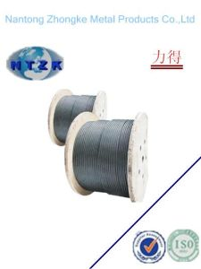 6*19s+Iwrc Ungalvanzied and Galvanized Steel Wire Rope, Chinese Rope pictures & photos