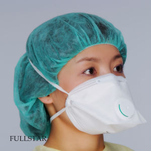 FFP1 Mask: White Color, Folded Style, Valve pictures & photos