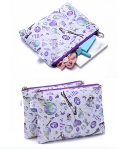 Fashion Nylon with Printing Cosmetic Bag with Two Pockets (KCC54) pictures & photos
