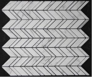 Carrara White Marble Tiles Mosaic Pattern for Wall Flooring Backsplash pictures & photos