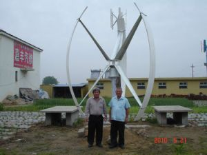 Vertical Axis Wind Turbine System (TECHMLV 3KW)
