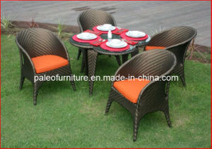 Hotel Rattan Dining Set Restaurant Wicker Table and Chair (PAD-082)