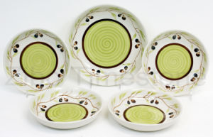 Ceramic Hand Painted Pasta Bowl Set (TM7515) pictures & photos