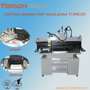 LED Semi-Automatic Solder Paste Stencil Printer for 1200mm PCB pictures & photos