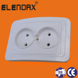 EU Style Plastic Base 2 Pin Power Sockets Outlet (F2009P) pictures & photos