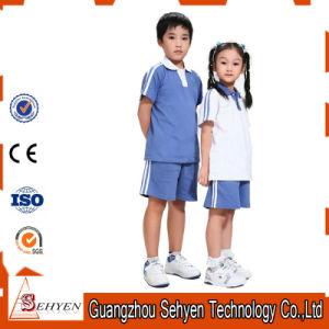 Bulk Blue Primary School Uniform Polo Shirt of 100% Cotton pictures & photos