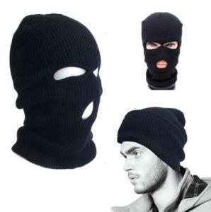 Fashionable Winter Knitted Warm Mask Acrylic Hat pictures & photos