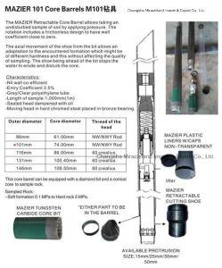 Mazier M101 Core Barrel, Taking Un-Disturbed Soil Sampler Equipment pictures & photos