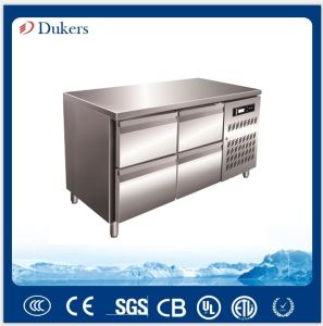 Gn Fan Cooling Commercial Refrigerator Bench Series, Stainless Steel Fridge