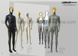 Fashion Male Dress Form Mannequin with Changeable Chrome Face pictures & photos